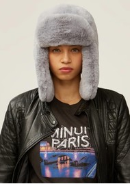 NOOKI Billie Faux Fur Trapper Hat -Grey