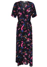 Mercy Delta Dunston Silk Printed Wrap Dress - Fireworks Agate