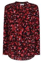 Mercy Delta Stowe Silk Blouse - Leopard Ruby