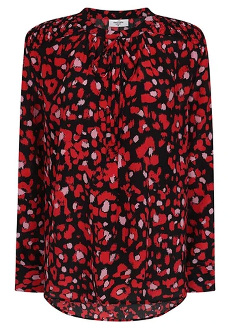 Mercy Delta Stowe Silk Blouse - Leopard Ruby main image