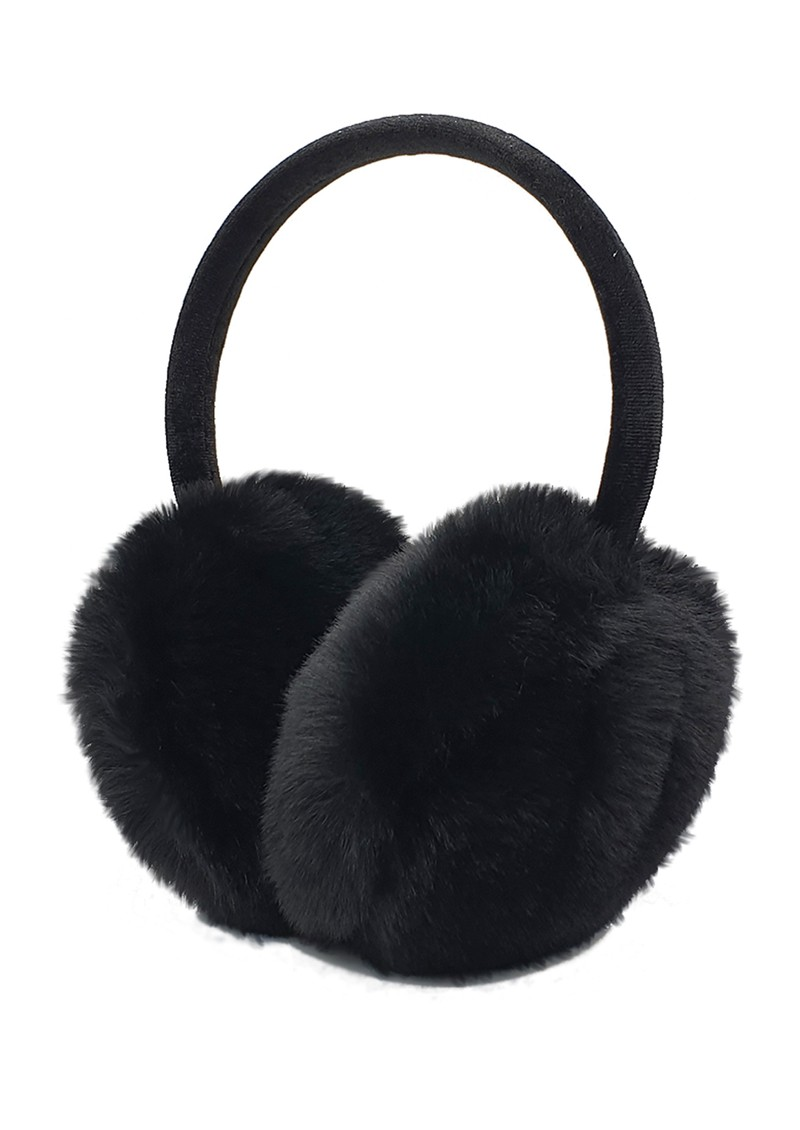 NOOKI Edie Faux Fur Earmuffs - Black  main image