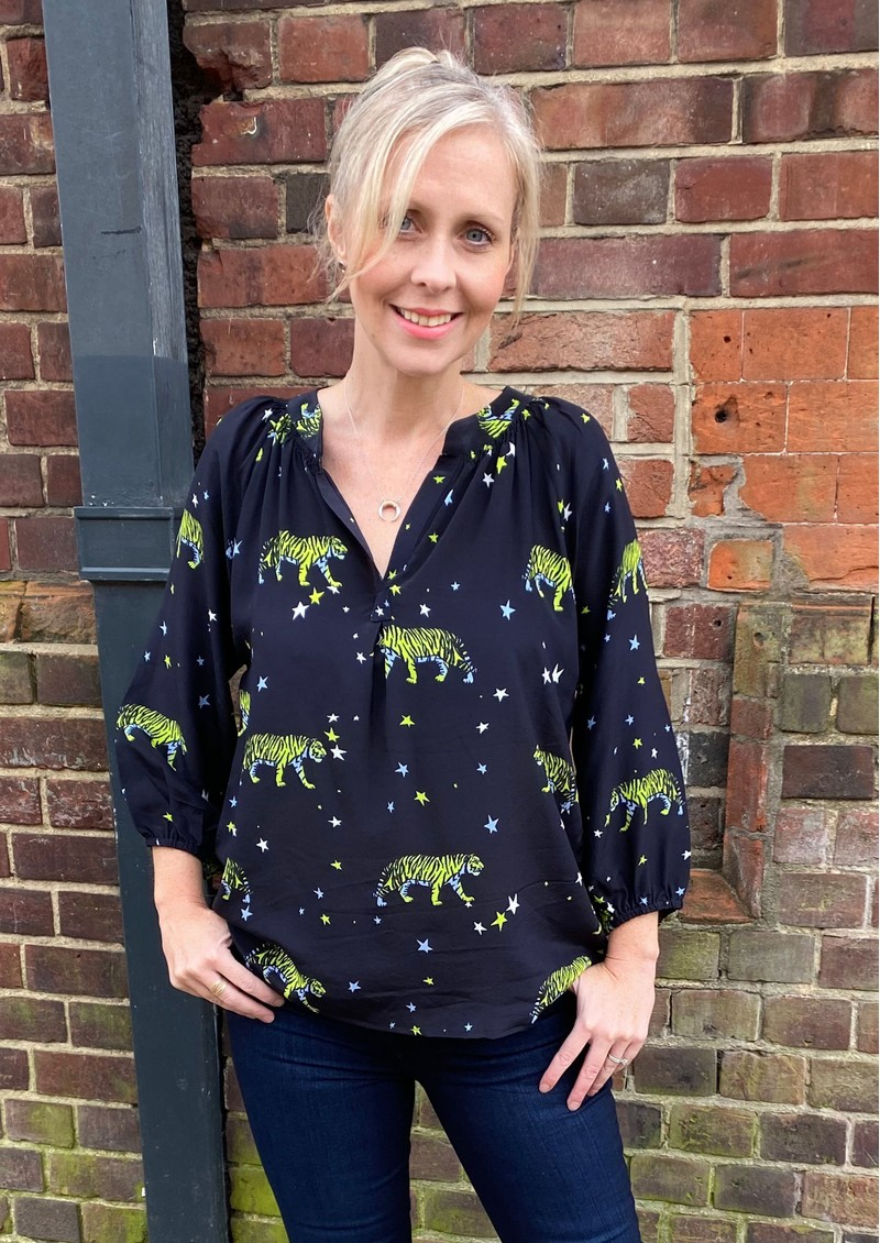 Mercy Delta Clevedon Silk Blouse - Bengal Tiger main image