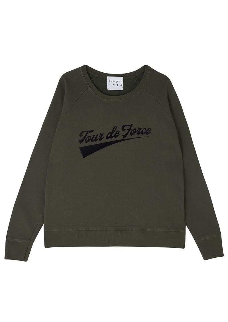JUMPER 1234 Tour De Force Cotton Sweater - Old Army main image