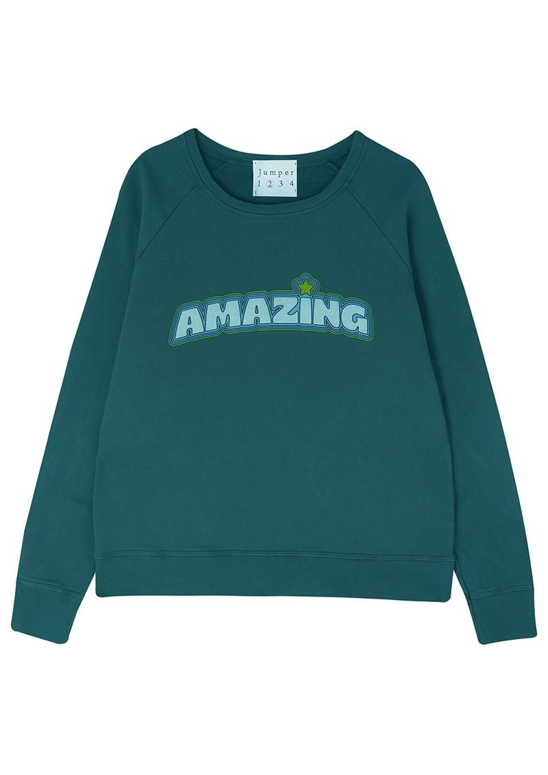 JUMPER 1234 Amazing Cotton Sweater - Bottle Green main image