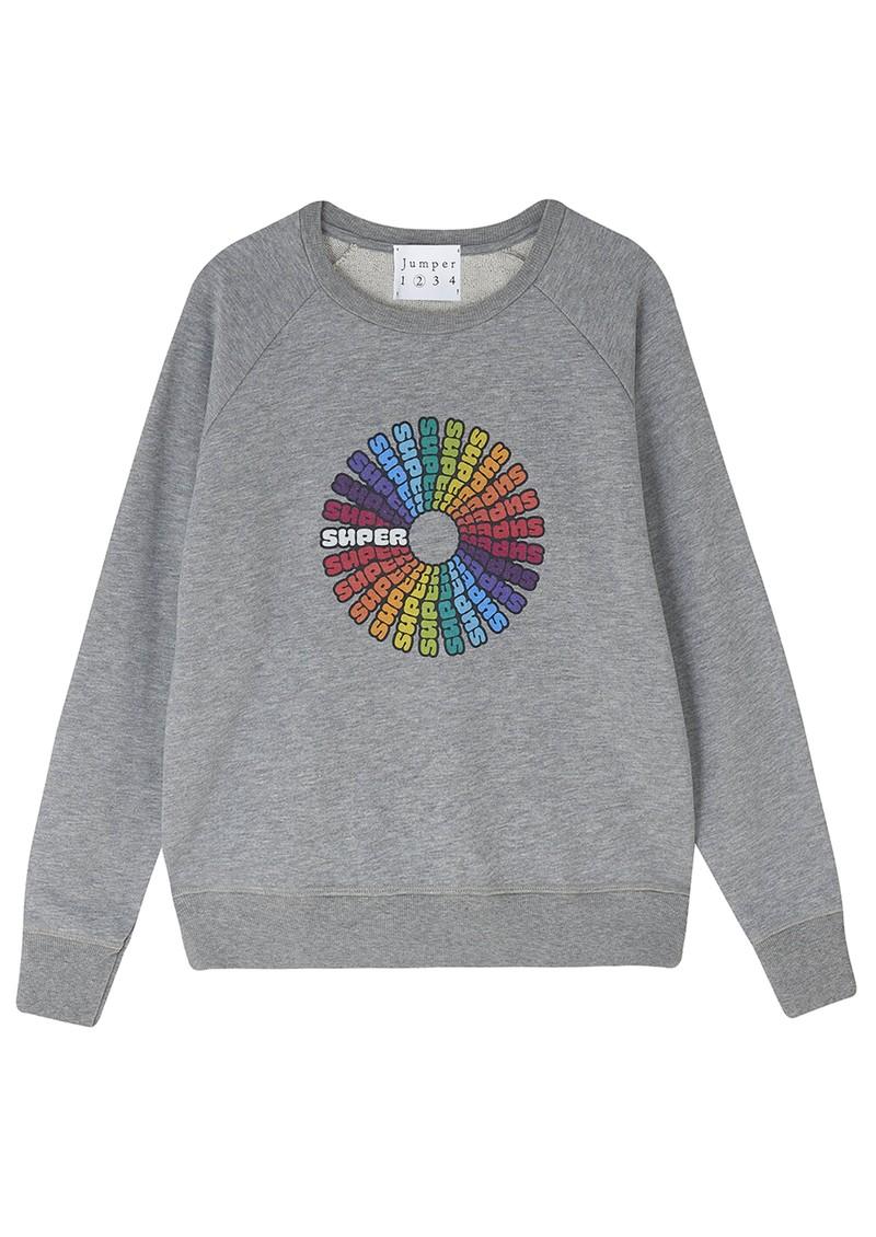 JUMPER 1234 Super Cotton Sweater - Mid Grey main image