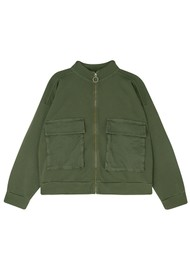 JUMPER 1234 Bomber Cotton Jacket - Army