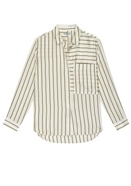 Rails Spencer Silk Shirt - Ivory Daffodil Stripe