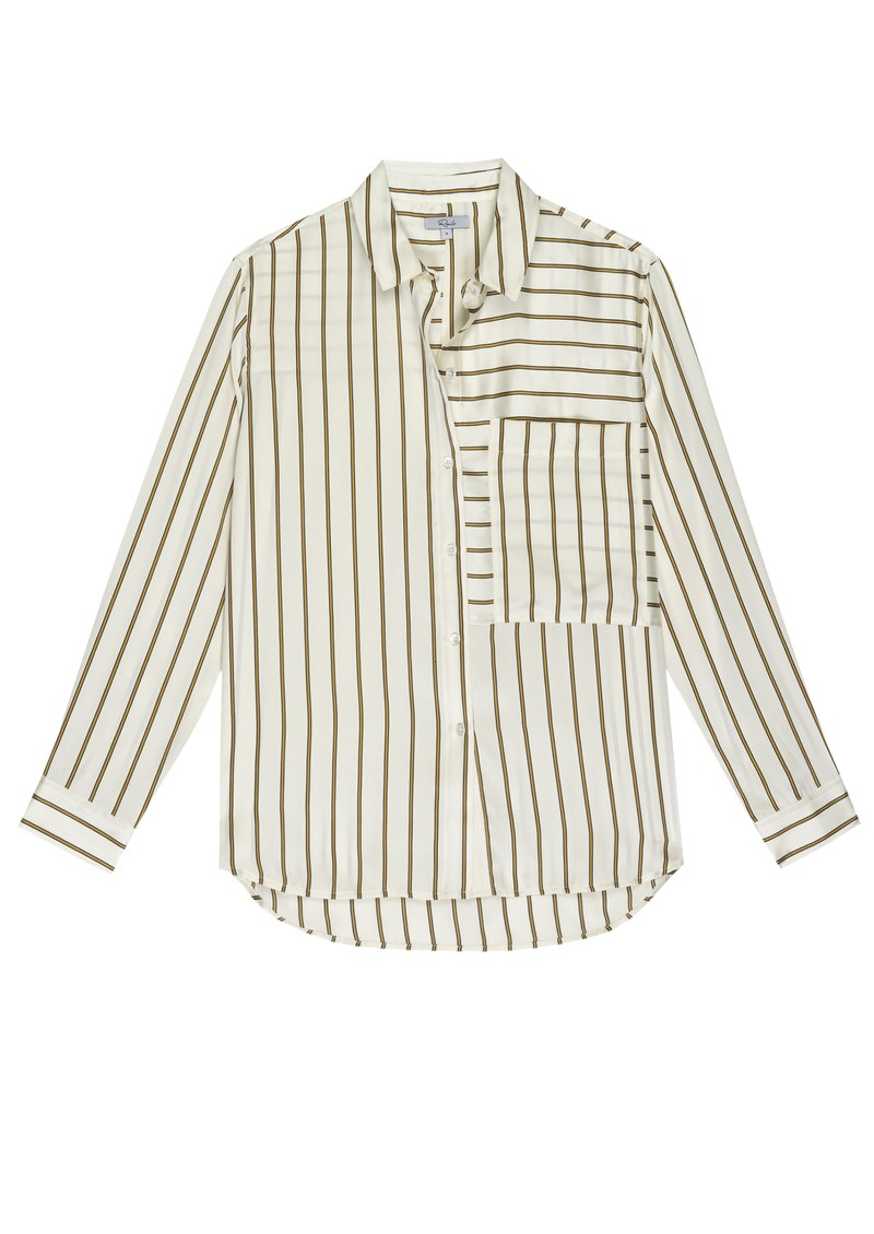 Rails Spencer Silk Shirt - Ivory Daffodil Stripe main image