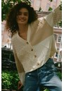 Reese Cotton Mix Cardigan - Cream Patchwork additional image