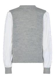 LEVETE ROOM Ofia 1 Top - Grey & White