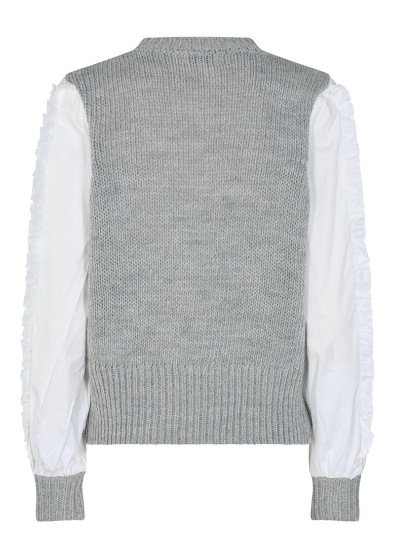 LEVETE ROOM Ofia 1 Top - Grey & White main image