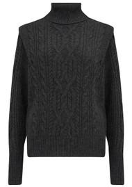 360 SWEATER Lovelle Turtleneck Merino Wool Mix Jumper - Charcoal