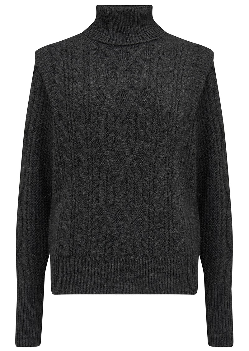 360 SWEATER Lovelle Turtleneck Merino Wool Mix Jumper - Charcoal main image