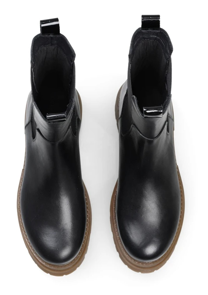SHOE BIZ COPENHAGEN Prima Leather Boots - Black & Toffee main image