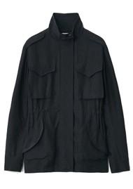 RAG & BONE Roth Silk Field Jacket - Black