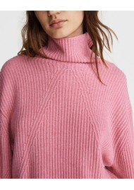 RAG & BONE Pierce Cashmere Turtleneck Jumper - Pink