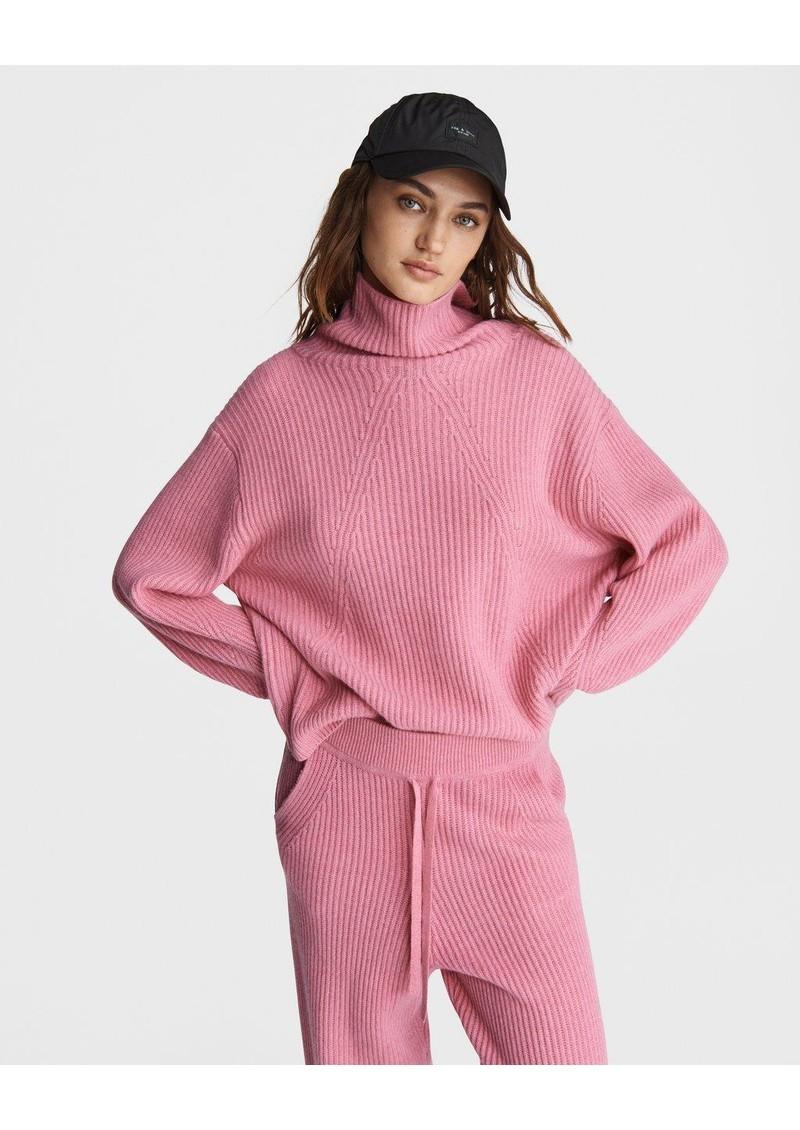 RAG & BONE Pierce Cashmere Turtleneck Jumper - Pink main image