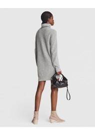 RAG & BONE Pierce Cashmere Turtleneck Jumper Dress - Grey