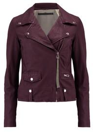 MDK Seattle New Thin Leather Jacket - Port Royale