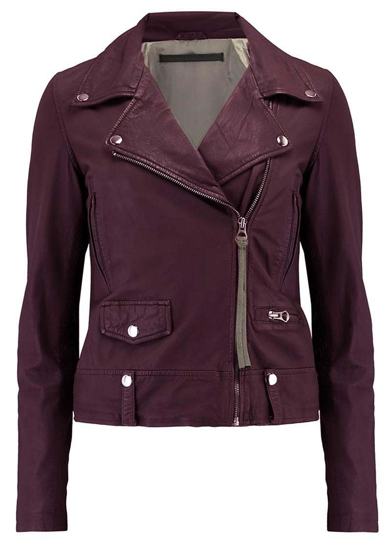 MDK Seattle New Thin Leather Jacket - Port Royale main image
