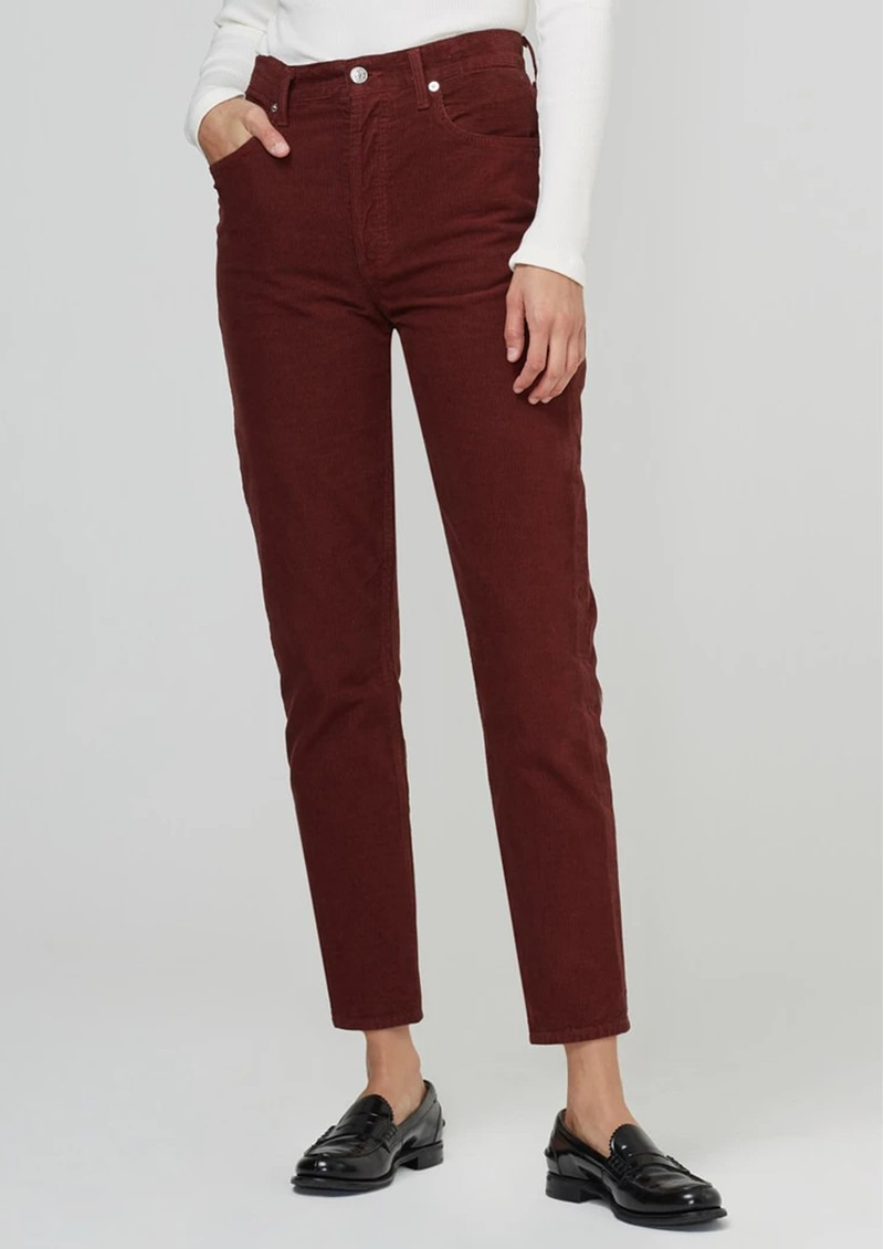 CITIZENS OF HUMANITY Jolene High Rise Straight Corduroy Trousers -  Dusted Scarlett main image