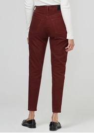 CITIZENS OF HUMANITY Jolene High Rise Straight Corduroy Trousers -  Dusted Scarlett