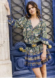 MISS JUNE Brix Printed Dress - Fresh Bloom