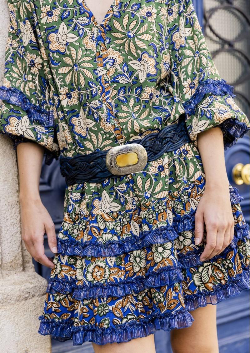 MISS JUNE Brix Printed Dress - Fresh Bloom main image