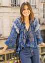 Easy Printed Blouse - Texan Blue additional image