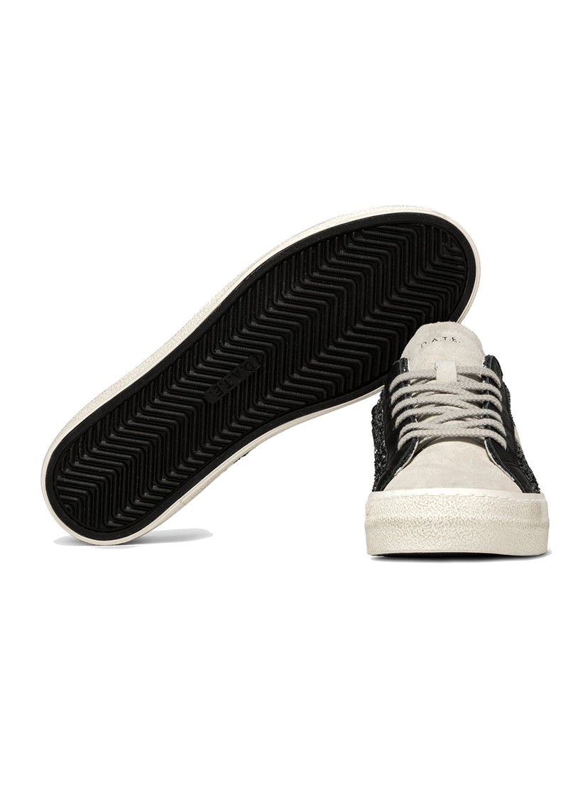 D.A.T.E Hill Low Leather Trainers - Glitter Metal main image
