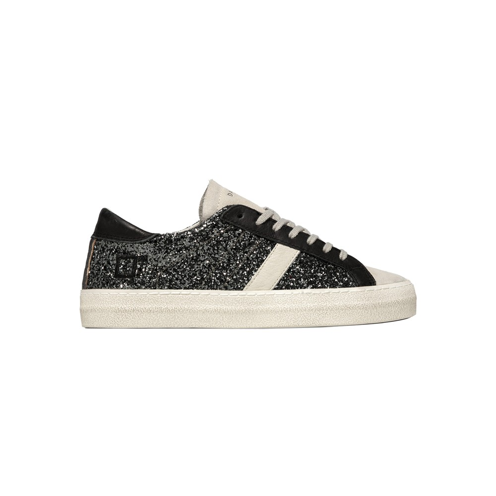 Hill Low Leather Trainers - Glitter Metal
