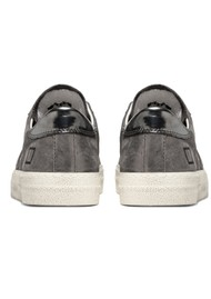 D.A.T.E Hill Low Leather Trainers - Stardust Metal