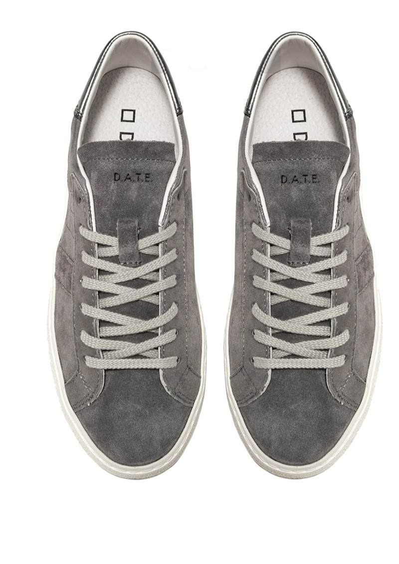 D.A.T.E Hill Low Leather Trainers - Stardust Metal main image