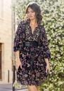 Loana Printed Dress - Black additional image