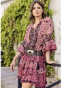 Rachel Printed Dress - Western Red additional image