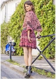 MISS JUNE Rachel Printed Dress - Western Red