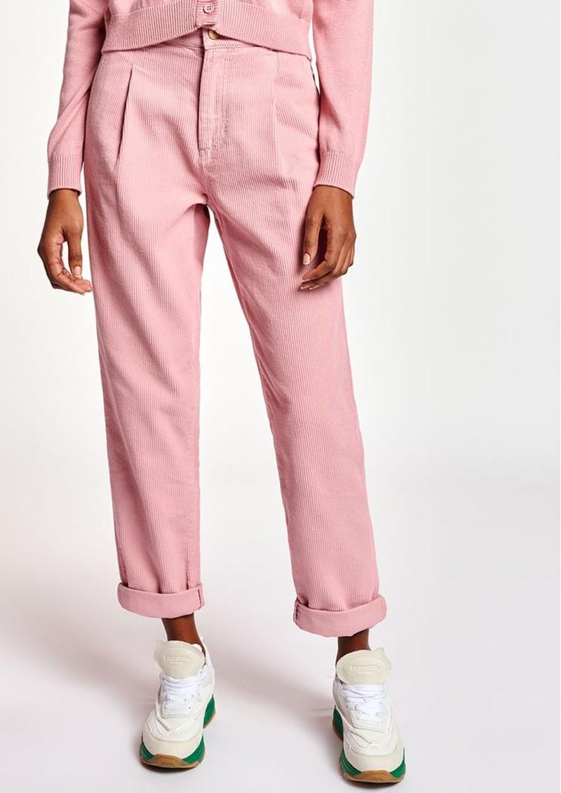 ESSENTIEL ANTWERP Ashtonishing Cotton-Corduroy Trousers - Oink Pink main image