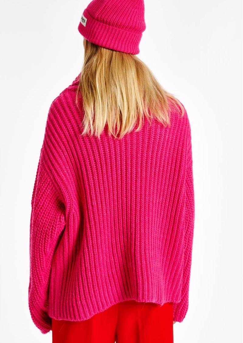 ESSENTIEL ANTWERP Anjou Chunky Ribbed Turtleneck Sweater - Monsters Inc main image