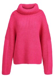 ESSENTIEL ANTWERP Anjou Chunky Ribbed Turtleneck Sweater - Monsters Inc
