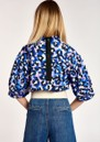 Accessory Leopard Printed Top - Klein Blue additional image