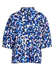 ESSENTIEL ANTWERP Accessory Leopard Printed Top - Klein Blue