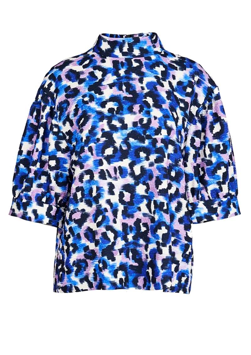 ESSENTIEL ANTWERP Accessory Leopard Printed Top - Klein Blue main image