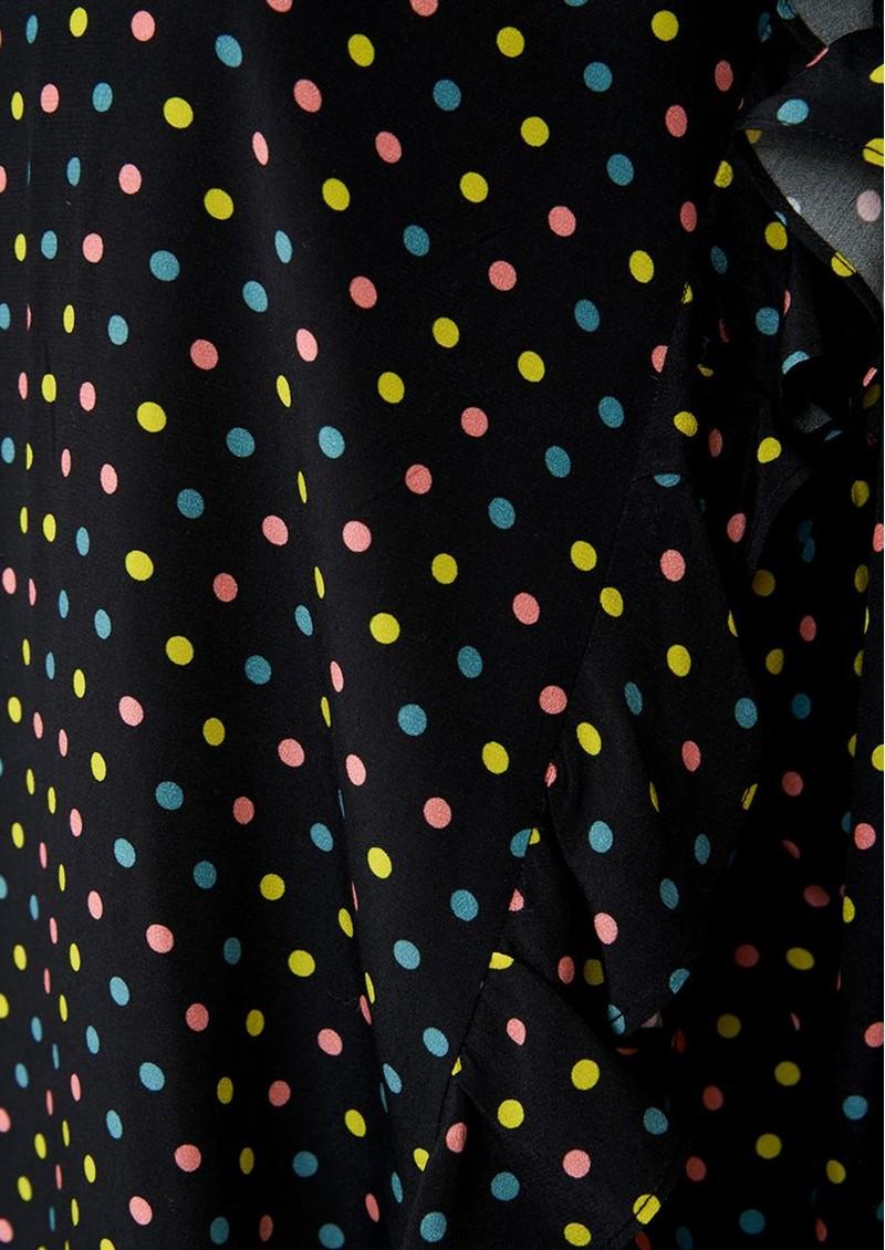 ESSENTIEL ANTWERP Acknowledgement Polka Dot Ruffle Blouse - Black main image