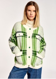 ESSENTIEL ANTWERP Anywhere Checked Cardigan - Combo 1 & Off White
