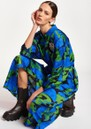 Apart Abstract Printed Midi Dress - Klein Blue additional image