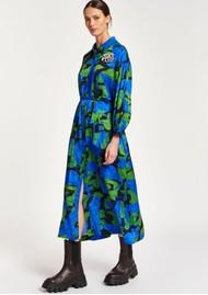 ESSENTIEL ANTWERP Apart Abstract Printed Midi Dress - Klein Blue