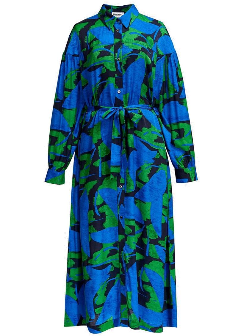 ESSENTIEL ANTWERP Apart Abstract Printed Midi Dress - Klein Blue main image