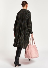 ESSENTIEL ANTWERP Asterical Polka Dot Shirt Dress - Black