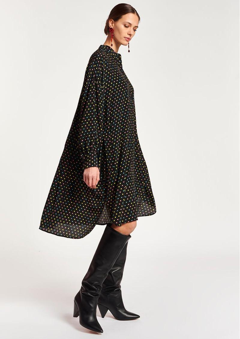 ESSENTIEL ANTWERP Asterical Polka Dot Shirt Dress - Black main image