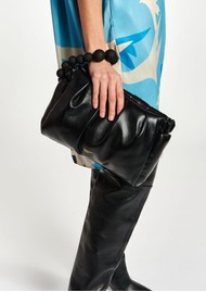 ESSENTIEL ANTWERP Aragon Puffy Faux Leather Clutch - Black